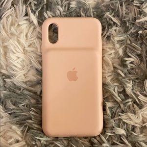 iPhone XS SMART BATT CASE PINK SAND-USA